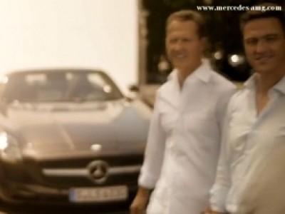 Mercedes SLS AMG Roadster avec les frères Schumacher